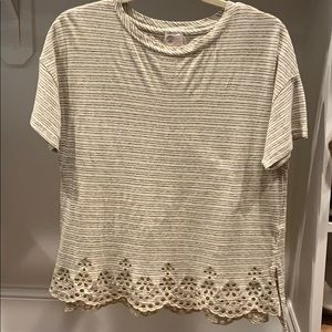 Anthropologie eyelet top, xs